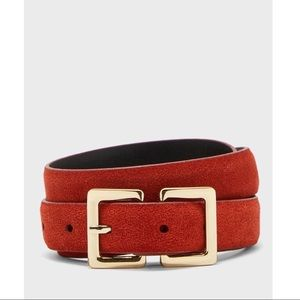 Topshop Rust Leather Belt W/ Gold Buckle XS/SM